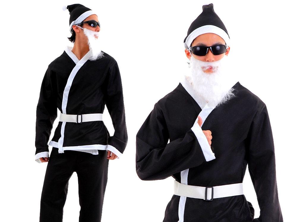 a563 ブラックサンタ コスプレ 黒サンタクロース 衣装